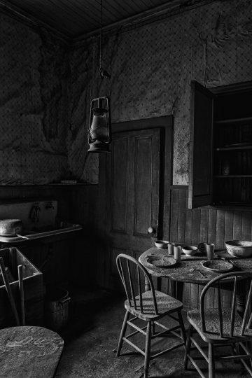 Old kitchen in Bodi, California ghost town
