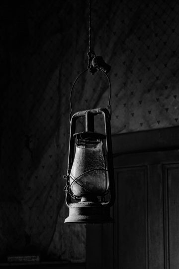 Hanging lantern in Bodi, California ghost town