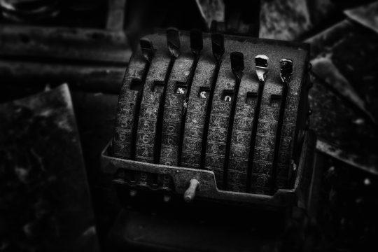 Old machine in Bodi, California ghost town
